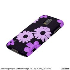 Samsung Purple Gothic Grunge Flowers Galaxy S5 Cover