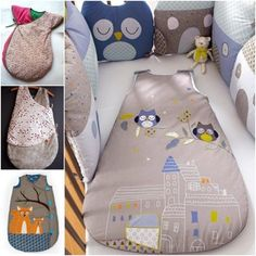 Keep your baby warm in this coming winter, it's time to make quilted sleeping bag for little ones. hat is a baby sleeping bag? That's a wearable blanket. Baby Sewing Projects, Sewing For Kids, Diy For Kids, Sewing Ideas, The Babys, Quilt Baby, Cot Bumper, Crib Bumpers, Diy Bebe