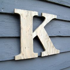 Love this wooden letter and I am not sure if it is because of the letter design or the fact that it's a K!!