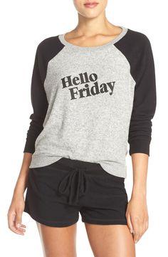 'Hello Friday' Crewneck Lounge Sweater