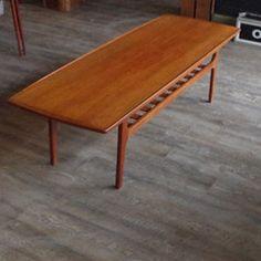 Mid Century Modern Danish Teak Coffee Table by Grete Jalk | Vintage Home Boutique