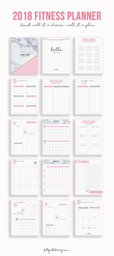 YOUR GUIDE TO  ORGANIZED AND  HEALTHY YEAR - 2018 Fitness Planning Kit