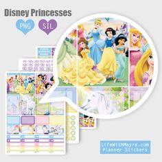 Free Printable Disney Princesses Planner Stickers lifewithmaya.com