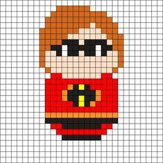 Mrs Incredible - The Incredibles Perler Bead Pattern
