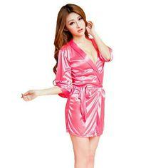 Now in pink Women Bathrobe Sexy Lingerie Sleepwear Pink Women Bathrobe Sexy robe  JUST ARRIVED! boutique Intimates & Sleepwear Robes