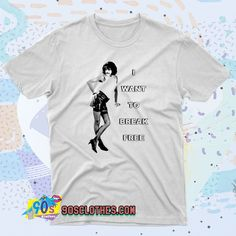 Vintage I Want To Break Freddie Mercury Queen T Shirt Style to wear every day in any situation to be always fashionable. With this T-shirt design will make you more retro-style. 90s Shirts, Tour T Shirts, 90s Fashion, Retro Fashion, Freddie Mercury, Contemporary Fashion, Streetwear Fashion, Shirt Style, Shirt Designs