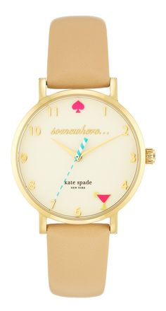 Watching the clock for 5 o' clock happy hour with this clever Kate Spade watch.