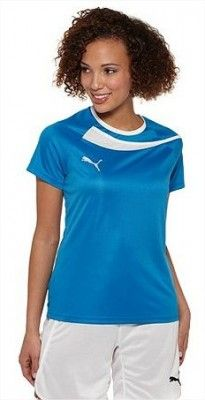 Camiseta Puma Women's 742436-02 Pulse Soccer Jersey Puma Royal White #Puma#Camiseta