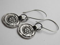 Silver Earrings Oxidized Sterling Silver 925 by IddyBiddyBoutique