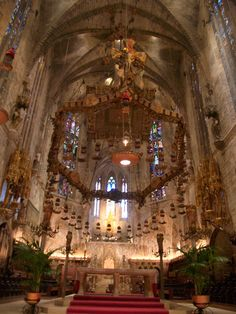 Catedral de Palma de Mallorca.  I thought the most beautiful place.