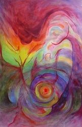 paintings by nina Pregnancy Images, Pregnancy Art, Brain Painting, Painting For Kids, Mother Painting, Birth Art, Spiritual Paintings, Sacred Art, All Art