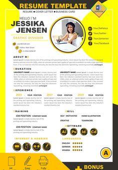 Graphic Designer Resume Template, Graphic Design Resume, Job Resume Template, Modern Resume Template, Cv Template, Brochure Design, Page Layout Design, Cv Design, Report Design