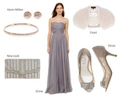 Autumn Bridesmaid Trends – 5 Complete Looks they'll Love Summer Wedding Attire, Strapless Dress Formal, Formal Dresses, J Crew Style, Autumn Wedding, Silk Chiffon, Bridesmaid Dresses, Trends, Grey