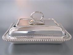 Fantastisch mooie antieke 1e gehalte zilveren dienschaal met deksel | Groot zilverwerk | Collectie | Antiek Zilver