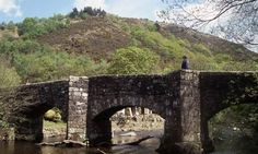 Walking is a great way to explore Devon, this picture is of Fingle Bridge, over the river Teign.
