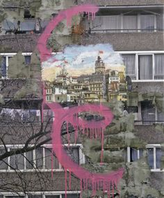 David Hepher What? mixed media 'Constantinople', 2012 Why? Urban Decay Photography, Modern Photography, Photography Projects, Artistic Photography, Landscape Photography, Creative Landscape, Urban Landscape, Textiles Sketchbook, Urban Painting