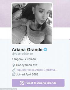 @Ariana Grande's Twitter