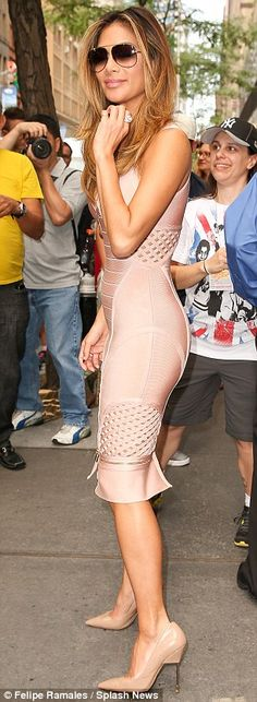 Going nude: Nicole completed her look with a pair of glossy nude heels ahead of an appearance on the Today show