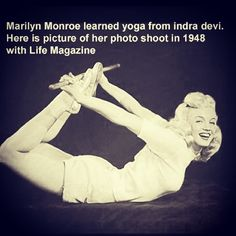 Marilyn Monroe did yoga