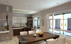 Mẫu thiết kế nhà phố 5,5m x 5 tầng House Outer Design, Home Projects, House Plans, Table, Furniture, Home Decor, Houses, Buildings, Decoration Home