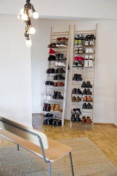 2. Ein dekoratives Schuhregal