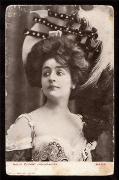 1910s Actress Miss Dupont, very  early silent films