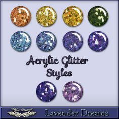 MystD - Lavender Dreams - Acrylic Glitter Styles [MystD-LavenderDreams-AcrGltSt] - $3.45 : Digital Scrapbooking Store | Digi Style Designs D...