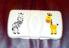Personalized Jungle Animal Wipes Case. $8.00, via Etsy.
