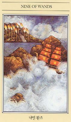 The Mythic Tarot ► Nine of Wands