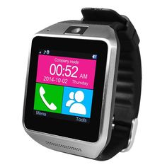 White Bluetooth Smart Watch WristWatch GV08 Support SIM Card for Samsung S2/S3/S4/S5/S6 Note 2/Note 3/Note 4 HTC Sony Android Phone. This watch can also work with iPhone as a Bluetooth device( means you can receive a call or make a call also sync your contacts to this watch via bluetooth ).But Some functions like Notification Push,Remote capture,Anti-lost are currently unavailable on iOS because the iOS app is unavailable now. View notifications from email, SMS, Caller ID, calendar and…