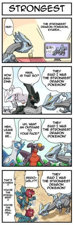 "The Strongest Dragon Pokémon. ""You want an outrage to your face!?"" Laughed to hard at that."