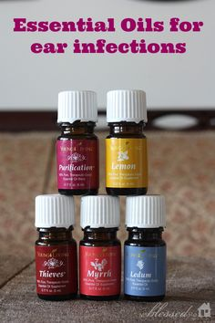 Essential Oils for Ear Infections #youngliving #oilyfamilies