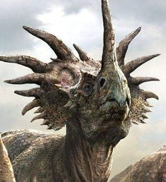 Styracosaurus Cow by Darren Horley Styracosaurus was a genus of herbivorous ceratopsian dinosaur from the Cretaceous Period, about to… Cool Dinosaurs, Prehistoric Dinosaurs, Prehistoric World, Dinosaur Fossils, Dinosaur Art, Prehistoric Creatures, Dinosaur Crafts, Dinosaurs Series, Walking With Dinosaurs