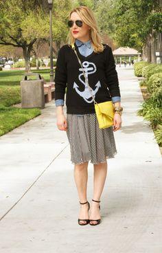 #Wildfox Couture Sweater, #MaisonMartinMargiela Skirt, Pour La Victoire Clutch