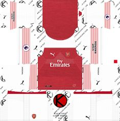 bacd38fc133 Arsenal kits for Dream League Soccer and the package includes complete with  home kits, away and third. All Goalkeeper kits are also included.