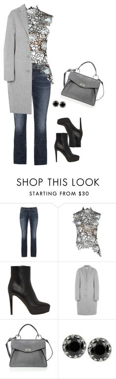 """Unbenannt #62"" by yelena-lorich ❤ liked on Polyvore featuring Silver Jeans Co., self-portrait, Jimmy Choo, Acne Studios, Proenza Schouler and Betsey Johnson"
