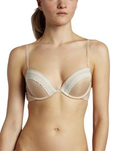 Calvin Klein Womens Sexy Signature Push Up Bra, Skin, 36A - Panty Hoarder