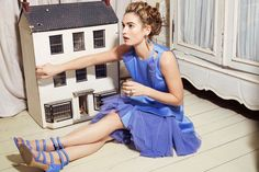 Photography by Gemma Booth - 'Downton Abbey's' Lily James reveals her real-life Cinderella story