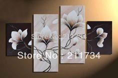 Pas cher 100 % fait main fleurs de vigne grande promotion sur toile pas cher DECOR HOME paysage peinture à l'huile sur toile 4pcs / set FRAME Pictur, Acheter  Peinture et calligraphie de qualité directement des fournisseurs de Chine:                 Peinture size/taille de peinture:             25x40 cm, 25x60 cm, 25x60 cm, 25x40 cm (10x16