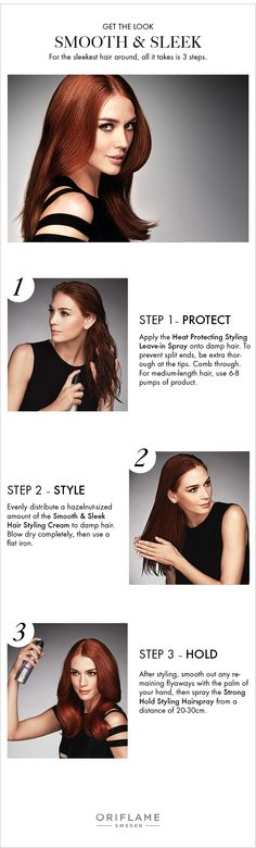 For the sleekest locks around, we break it down into 3 easy steps, using HairX Styling products, to master this gorgeous look.