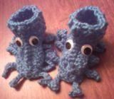 Sea creature baby booties
