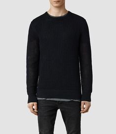 Mens Destinn Crew Sweater (Ink) - product_image_alt_text_1