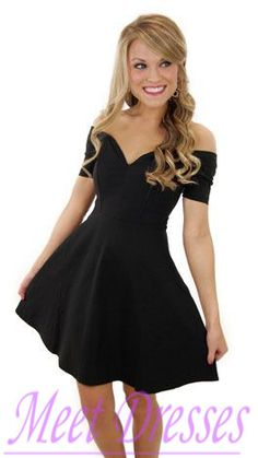 Simple Sweetheart Black Satin Homecoming Dresses Short Prom Dress Sweet 16 Gown…