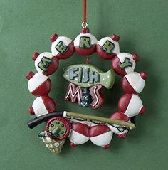 Merry Fishmas Christmas Ornament The JWM Collection http://www.amazon.com/dp/B00O8ZNSIY/ref=cm_sw_r_pi_dp_fEurub1GDSJV7