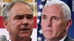 Tim Kaine vs. Mike Pence: All even at the start - CNNPolitics.com
