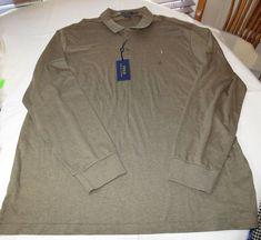 Polo Ralph Lauren Mens long sleeve Polo Shirt XXL xxlarge Classic Fit 784006 #RalphLaurenPolo #poloshirt