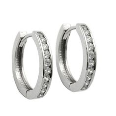 A chic pair of round hoop earrings with a fine line of cubic zirconia, which makes the pair look elegant and beautiful. The pair of earrings is well finished. Luxury Jewelry, Handmade Jewelry, Hoop Earrings, Wedding Rings, Engagement Rings, Elegant, Silver, German, Products