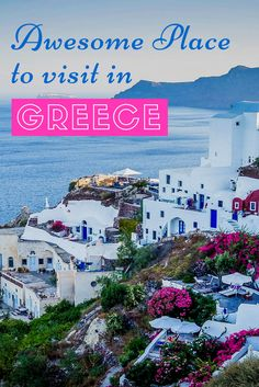 There are so many beautiful places to visit in Greece. So we have made a list for you with 10 of the best places to visit in Greece.   #backpackinggreece #travelgreece