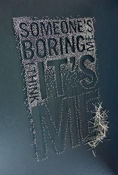 Typeverything.com 'Someone's boring me, I think... - Typeverything