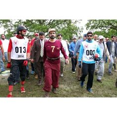 """Nasser HIK - Mohammed RSM - Hamdan MRM, Windsor, 16/05/2014  Shk Mohammed RSM: """"We enjoyed competing in the Royal Windsor Endurance Race in the UK that culminated with the victory of my sons, Sheikh Hamdan bin Mohammed and Sheikh Nasser bin Hamad Al Khalifa....my congratulations to the UAE and the Kingdom of Bahrain. We're only satisfied with first place"""" - hhshkmohd"""